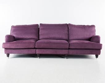 "Long beautiful three-seater sofa ""Howard"", version for Englesson, vintage, Sweden"