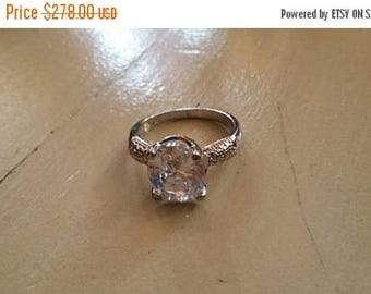 Holiday SALE 85 % OFF White Sapphire  Size 8 Ring Gemstone. 925 Sterling  Silver  Etsy Gift Sale