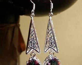 Holiday SALE 85 % OFF Mystic Topaz Sterling silver Earrings Gemstone  .925