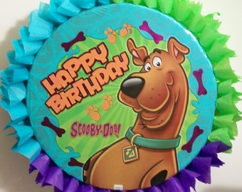 Scooby Doo Happy Birthday Pull String or Hit Pinata (Bones & Paws)