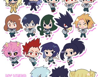 BnHA Hero and Villain Stickers