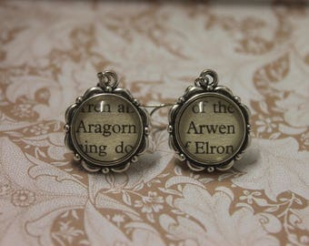 Arwen ~ Aragorn Earrings ~ The Lord Of The Rings ~ J.R.R Tolkien ~