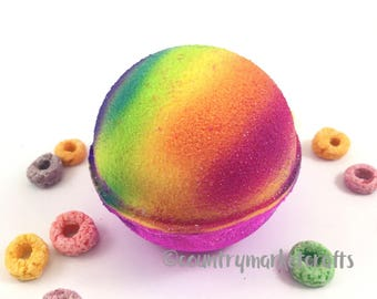 Fruit loops Bath Bombs - Vegan Bath Bomb Natural Bath Fizzy