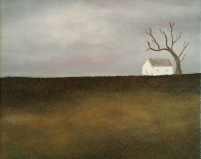 Waiting - Oil Painting - Minimalist