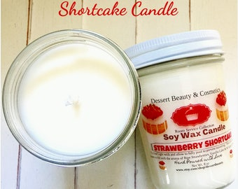 Strawberry Shortcake Soy Candle