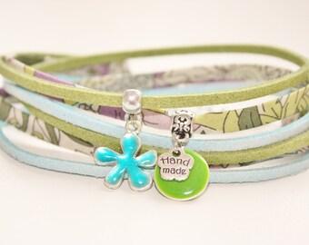 """Bracelet lucky charm """"Caribbean spirit"""" lime & turquoise"""