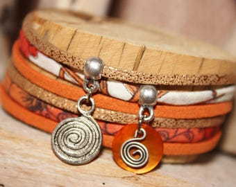 "Lucky ""Highlights Terracota"" orange & copper bracelet"