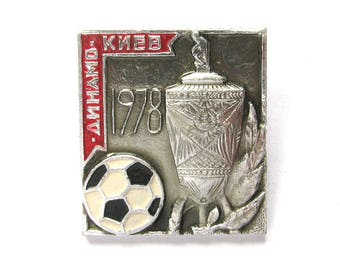 SALE, FC Dynamo Kyiv 1978, Football, Sport, Champion, Soviet badge, Vintage collectible badge, Soviet Vintage Pin, USSR, 1970s
