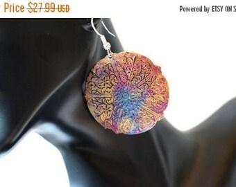 XMASINJULY Gypsy Earrings, Patina Earrings, gold earrings, boho earrings, turquoise earrings, geometric earrings, brass earrings, large earr