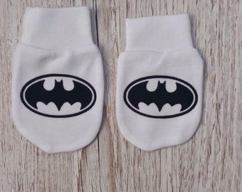 Batman inspired Baby Scratch Mitts