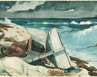 Winslow Homer: After the Hurricane, Bahamas. Fine Art Print/Poster (004543)