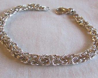 """Sterling Silver Link Bracelet 7 3/4"""" Length"""