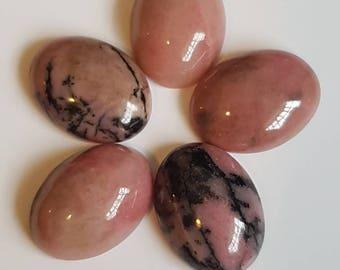 16 x 12mm Pink Rhodonite Cabochons