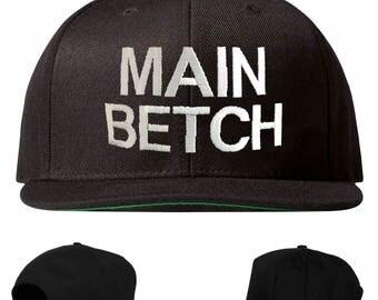 main betch hat, main betch snapback, main betch embroidered