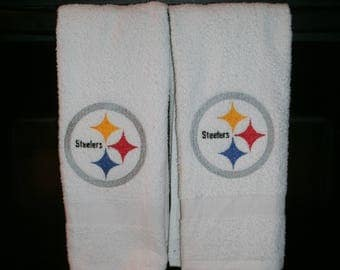 Steelers Football Personalized Kitchen Dish Hand Towels 2 Piece Set ANY TEAM