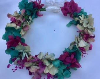 Naturally preserved flower crown, boho headpieces. Crowns of preserved flowers.