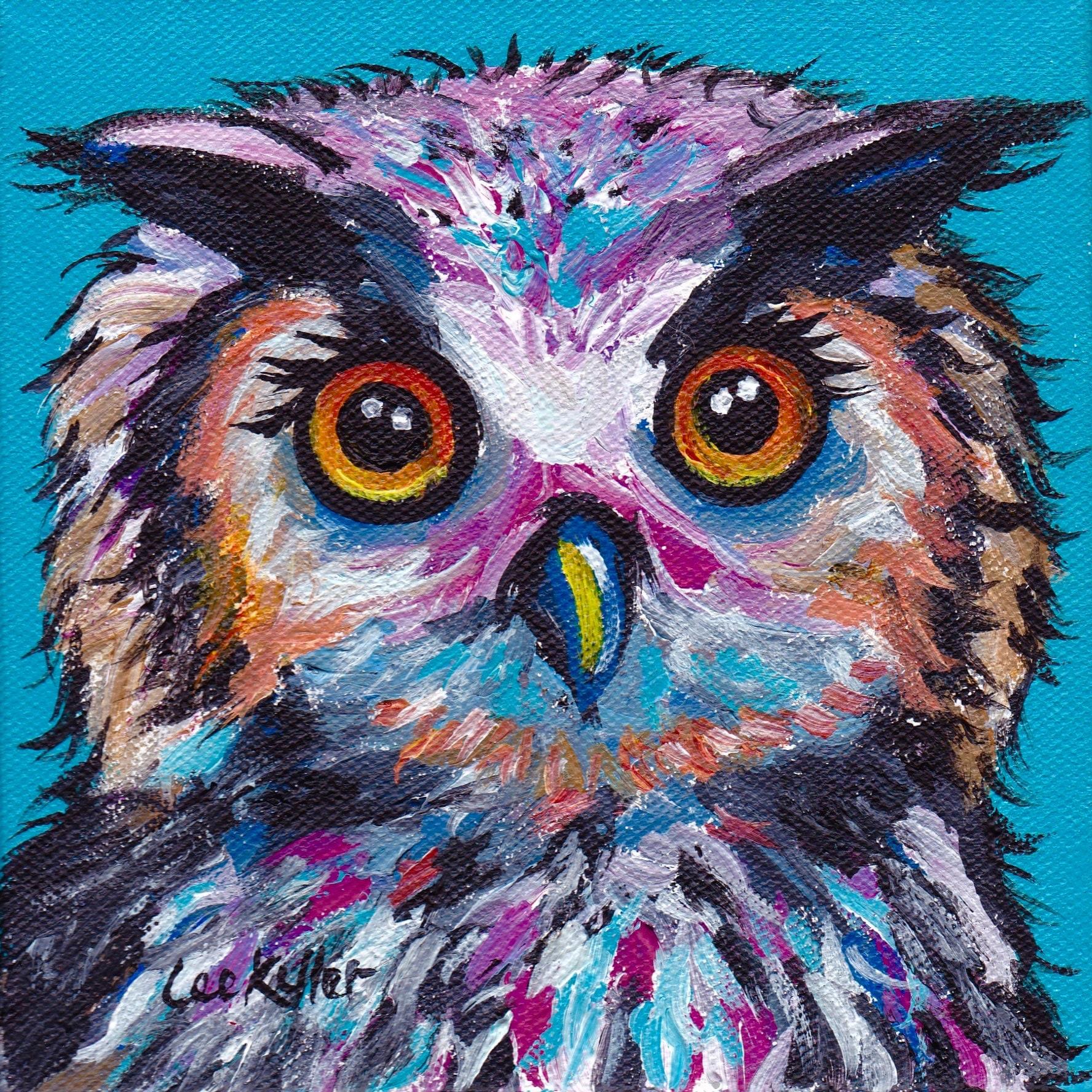 Colorful Art: Colorful Owl Art Print Owl Art Print Colorful Owl Prints