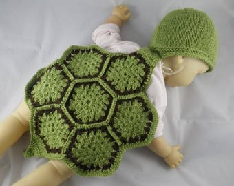 Photo002 - Crochet and knitting - turtle outfit photo prop