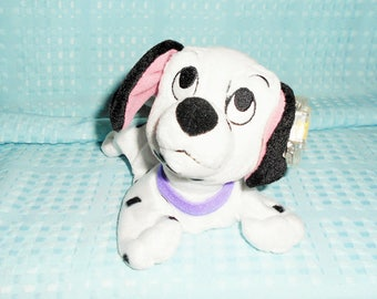 "Disney Beanbag Plush Little 7"" Puppy Named ""Pepper"" With A Hard Plastic Rare Star Beans Tag From Disney Playhouse.New With Tags/Soo Cute!"