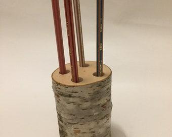 wood pen holder 4 holes