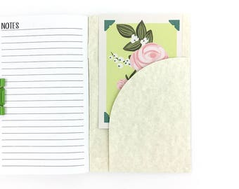 Paper Journal Pockets - Travelers Notebook Add-On - Notebook Inserts