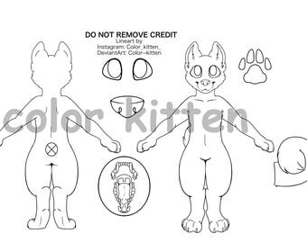 Curly tail K9 Lineart M
