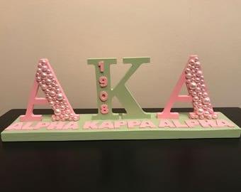 Alpha Kappa Alpha Desk Plaque