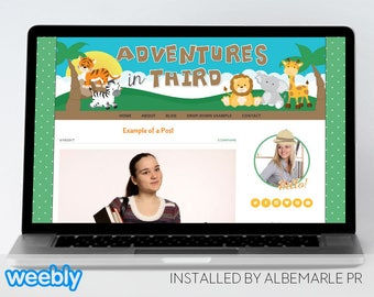 Premade Weebly Template Teacher Blog Classroom Lessons, Safari Blog - Mrs. Winter