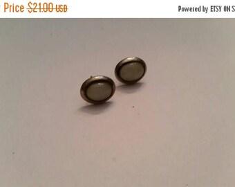 SALE Vintage Sterling Silver Moonstone Earrings 925 Dangle