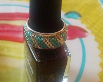 ring band adjustable peyote stitch