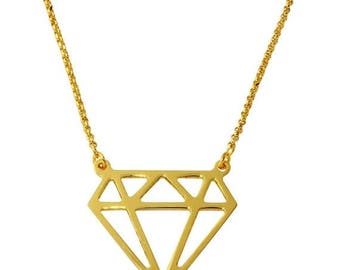 ON SALE Diamond shape necklace