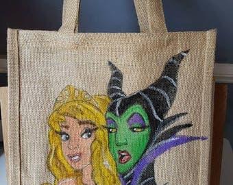 Sleeping Beauty Jute bag