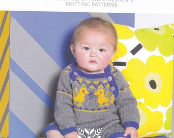 Tiny Treasures - Millamia of Sweden/modern baby & children's knitting patterns/NEW/less than half price/aran knitting patts/baby - toddler