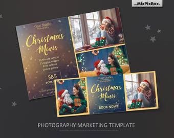 Christmas minis, mini session, Christmas, facebook, template, mini session, photography, photoshop template, winter, facebook, timeline