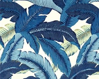 Blue Valance. Blue Palm Valance. Blue Pillow Cover.