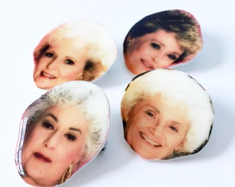 You choose one or all four golden girls celebrity stud lapel pins/ half dollar size