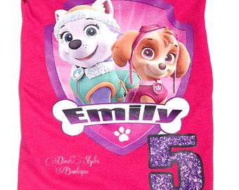 Paw Patrol Shirt, Paw Patrol Birthday Shirt, Paw Patrol Party, Paw Patrol Birthday Outfit, skye Shirt, First birthday shirt, fifth birthday