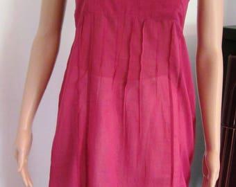 Raspberry cotton dress bottom
