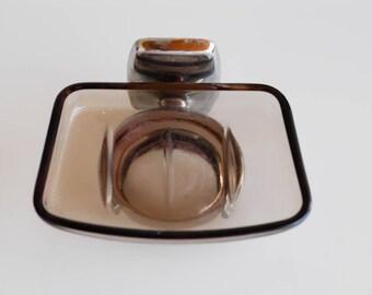 Seife Teller Rauchigen Glas Chrom Seifenspender Für Die Wand Französisch  Vintage Badezimmer Küche Werkstatt Midcentury Modern