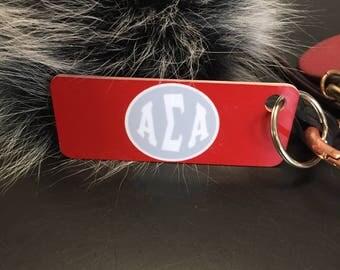 Red Alpha Sigma Alpha Keychain