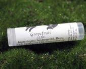 Grapefruit Oil Small Batch Lip Balm/ Naturally Flavored .15 oz / Rainer Maria Rilke Quote