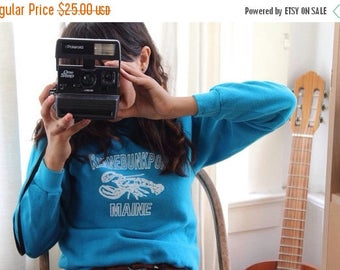 ON SALE Blue 80's Sweater