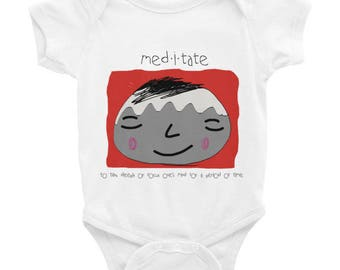 Just Meditate Baby Onesie