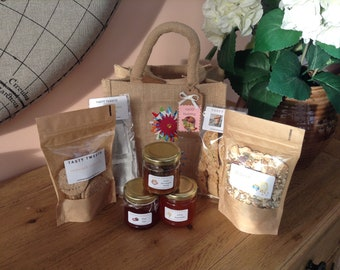free postage lunch hamper gift bag homemade food unusual Mother's Day  teachers birthday gift