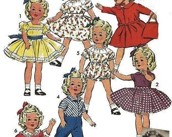 "Vintage Wardrobe Sewing Pattern for 12"" Shirley Temple Doll"