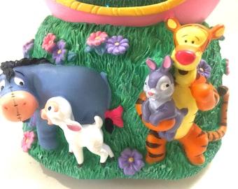 Easter Winnie the Poo Musical Snow Globe