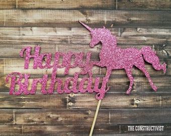 Happy Birthday 》UNICORN《Birthday/Photoshoot/Cake Smash/Party Supplies/Decor