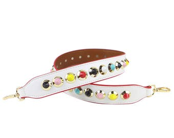 Bag Straps 90cm * 4cm white leather Removable Purse Strap Interchangeable Strap Replacement Handle Chain SS027