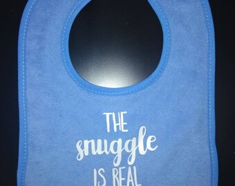 The snuggle is real bib