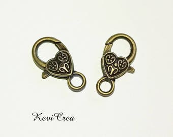 5 x 26mm bronze heart snap fasteners